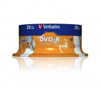 VERBATIM DVD-R 4.7GB Printable Spindle