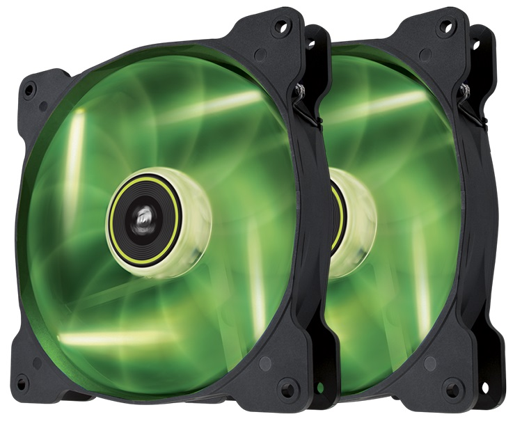 CORSAIR Air SP140 LED Green Dual Pack