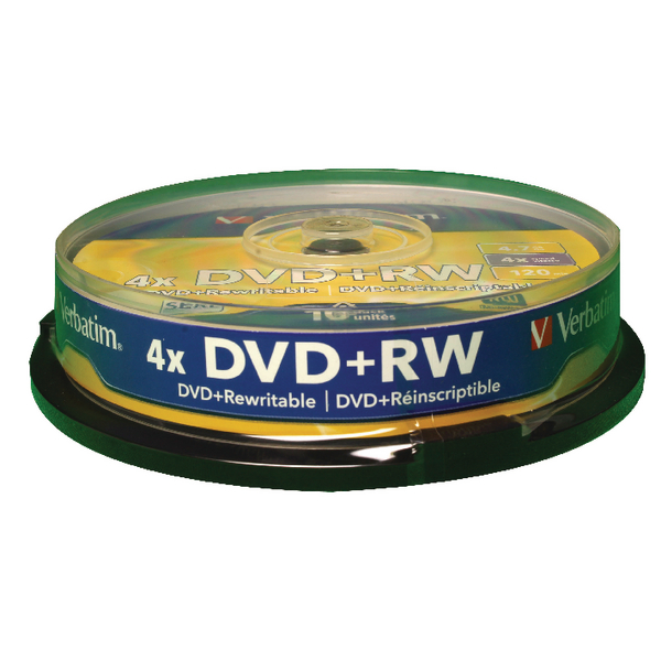VERBATIM DVD-RW 4.7GB 10pk Spindle