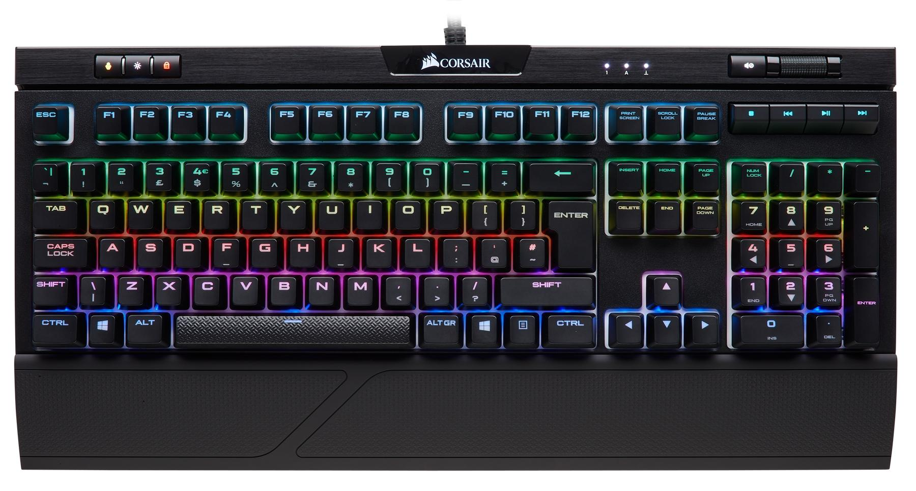 CORSAIR Strafe RGB MK.2 Black RGB LED- Cherry MX Silent  BE