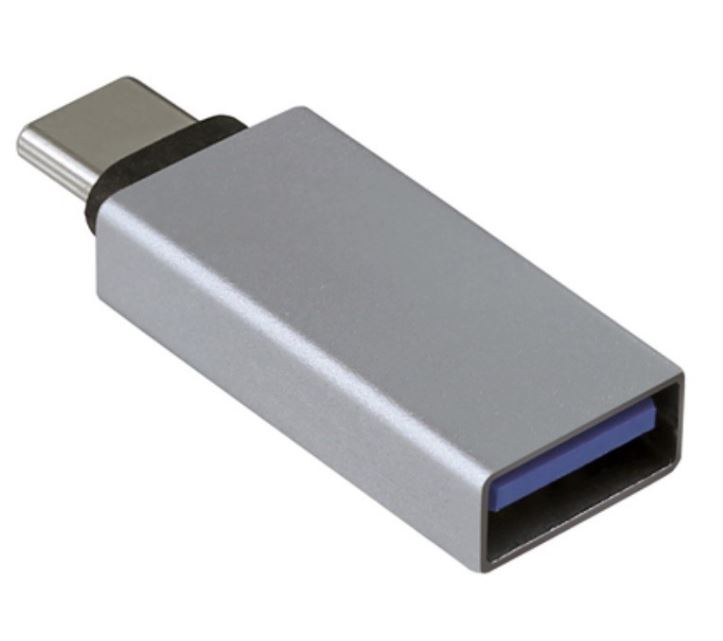 OTG USB-A F to USB-C M adapter