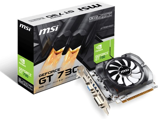 MSI GeForce GT 730 DDR3 2GB
