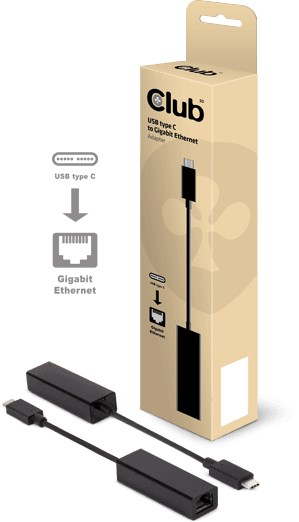 CLUB 3D USB 3.1 Type C to Gigabit Ethernet