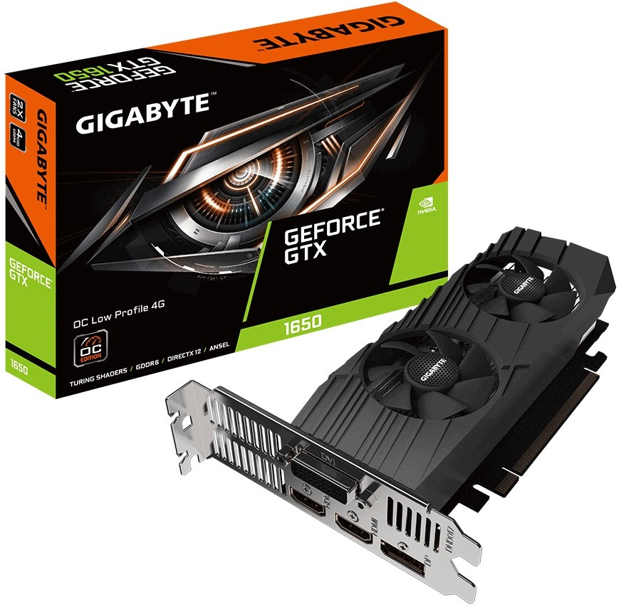 GIGABYTE GeForce GTX 1650 D6 OC Low Profile 4GB