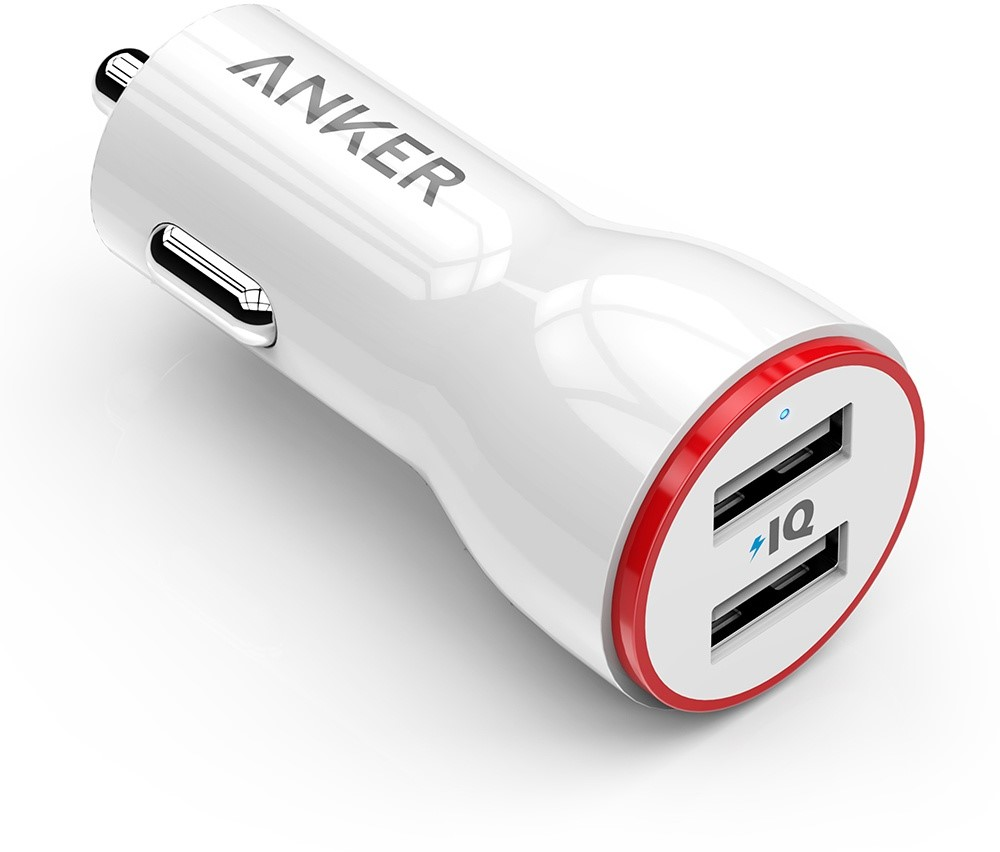 ANKER PowerDrive 2 Poorts 24W Autolader Wit