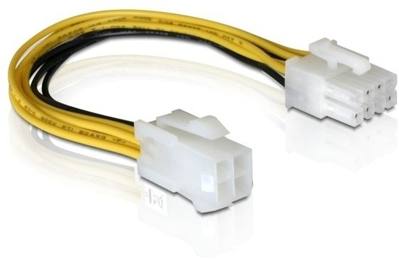DELOCK Power Cable 8pin EPS > 4pin ATX/P4