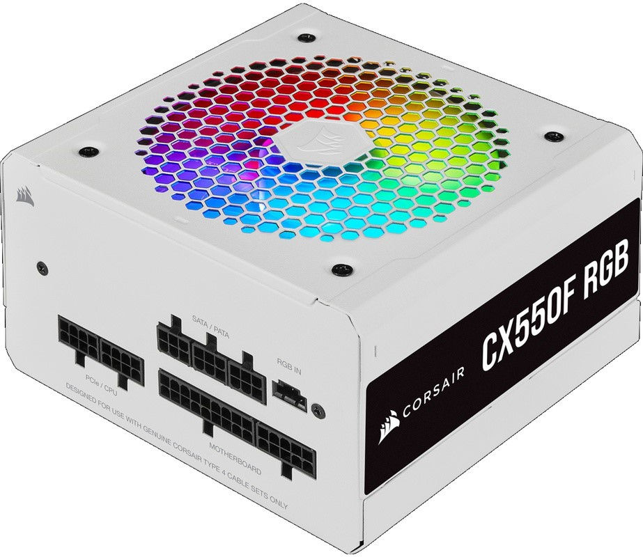 CORSAIR CX Series CX550F RGB White